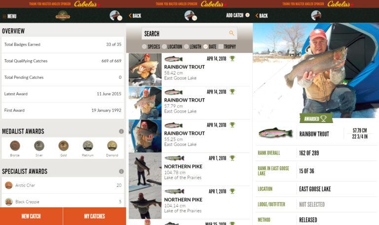 Master Angler in app views
