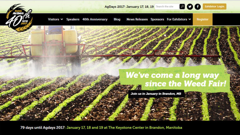 Manitoba Ag Days website homepage