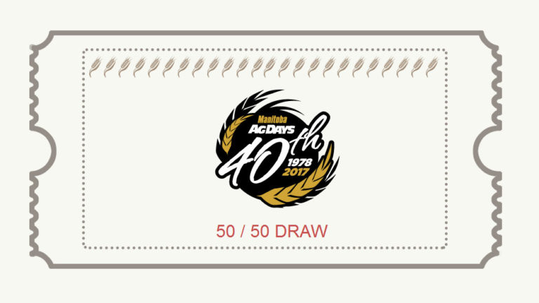 Custom designed Ag Days 50/50 draw ticket
