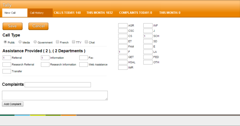 A custom designed inquiry intake system program information and contacts, and generates useful data.