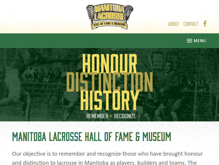 Manitoba Lacrosse Hall of Fame & Museum | Pattern Interactive